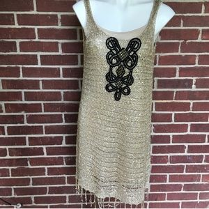 Free People sequin embroidered dress size M